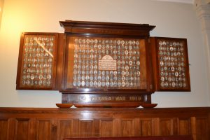 the Anzac honour board